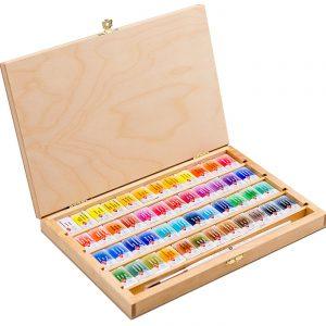 آبرنگ سن پترزبورگ ۴۸ رنگ جعبه چوبی