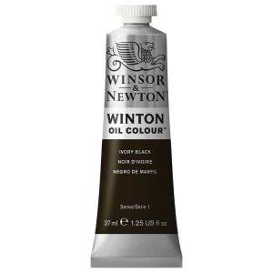 رنگ روغن وینزور مدل winton کد رنگ ۲۴ Ivory Blackحجم۳۷ میل