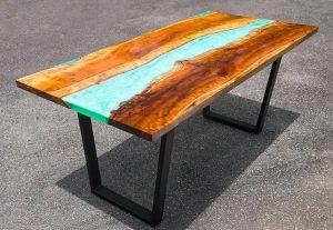 ساخت میز با رزین اپوکسی
