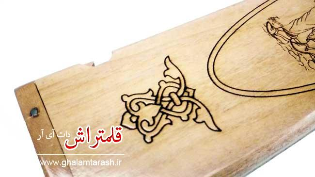 قلمدان خوشنویسی طرح مینیاتور چوبی اعلا (1)