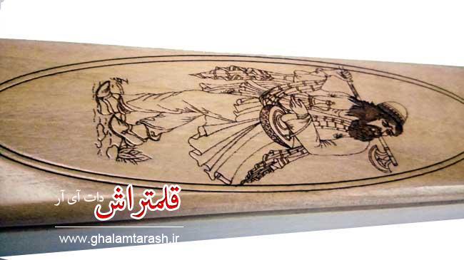 قلمدان خوشنویسی طرح مینیاتور چوبی اعلا (2)