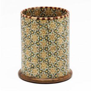 قلمدان رومیزی خاتم کاری اصفهان طرح گل شیشی خورشیدی