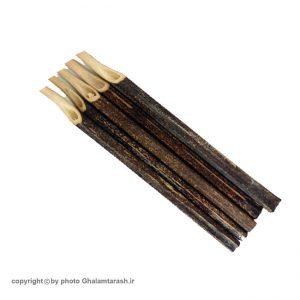 قلم نی خیزران سفارشی رنگ قهوه ای شماره ۲ بسته ۵ عددی