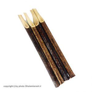 قلم نی خیزران سفارشی قهوه ای شماره ۴ بسته ۴ عددی