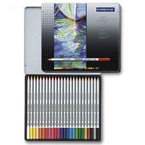 مداد آبرنگی ۲۴ رنگ استدلر مدل Karat
