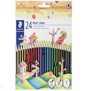 مداد رنگی ۲۴رنگ استدلر مدل Noris Colour 185 C24