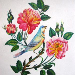 گل و مرغ نقاشي ايراني cd