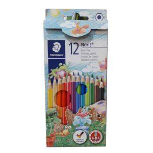 مداد رنگی ۱۲ تایی استدلر جعبه مقوایی Noris