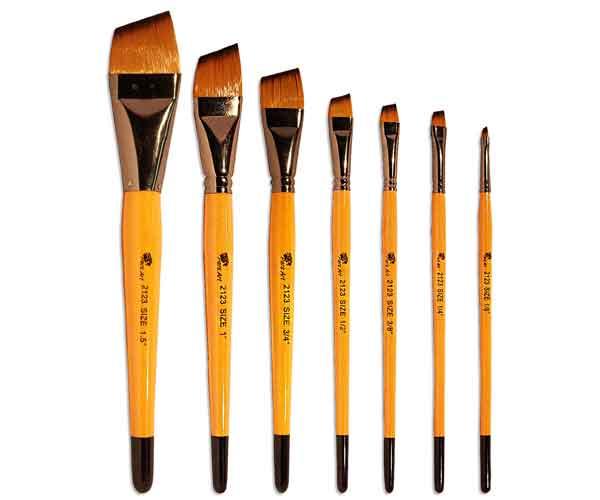 قلم موی سر کج نقاشی