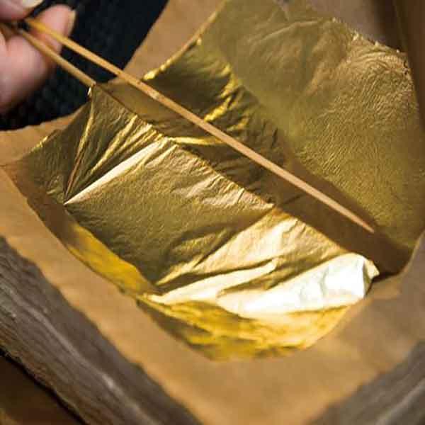 کار با ورق طلا