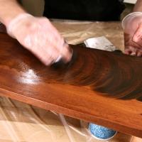 آموزش رنگ آمیزی چوب