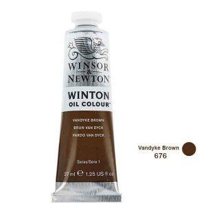 رنگ روغن وینزور مدل winton کد رنگ Vandyke Brown 676